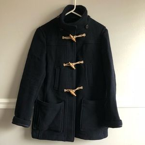 Topshop navy wool pea coat